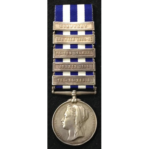 44 - <strong>Egypt Medal, dated 1882, with 5 clasps, to 1st Royal Hldrs. [Black Watch]<br /><br /></stron...
