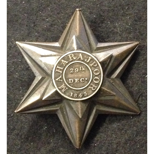 6 - <strong>Gwalior campaign 1843 - Maharajpore Star, Lieutenant in the 31st Native InfantryGwalior cam...