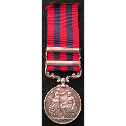 8 - <strong>India General Service 1854, clasps Burma1885-7, Burma 1887-89 - Rifle Brigade.</strong><br /...