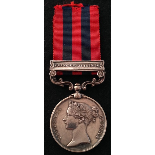 9 - <strong>India General Service 1854, Chin Lushai 1889-90 - Cheshire Regiment.</strong><br /><br />Ind...