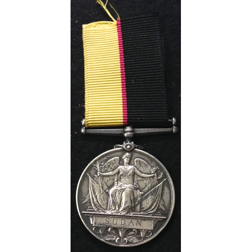 18 - <strong>Queens Sudan Medal 1896-98.</strong> <br /><br />To: 3061. Cpl. A. Friend. 1/Cam: Hdrs. (Eng...
