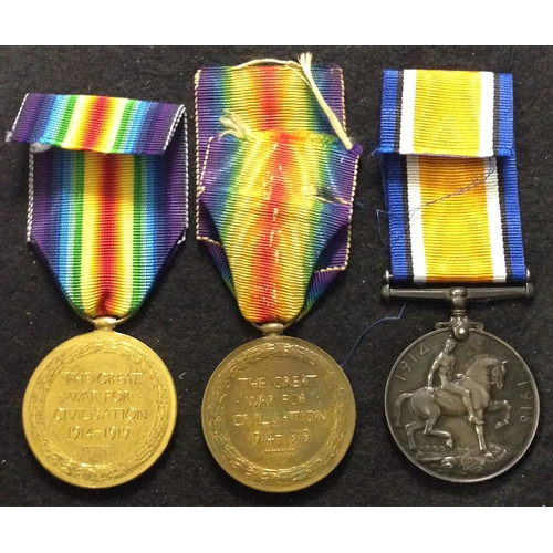 59 - <strong>WW1 Single medals, Queens Regt, Royal Artillery, Machine Gun Corps.</strong><br /><br />Vict...