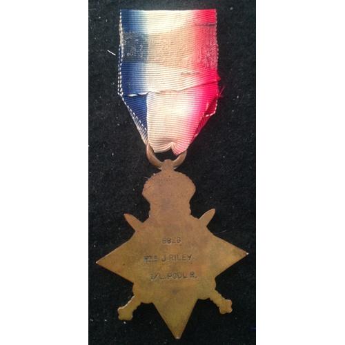 38 - <strong>1914 Star - Liverpool Regiment.</strong><br /><br />1914 Star, 8826 Pte. J. Riley. 1/ L. Poo...