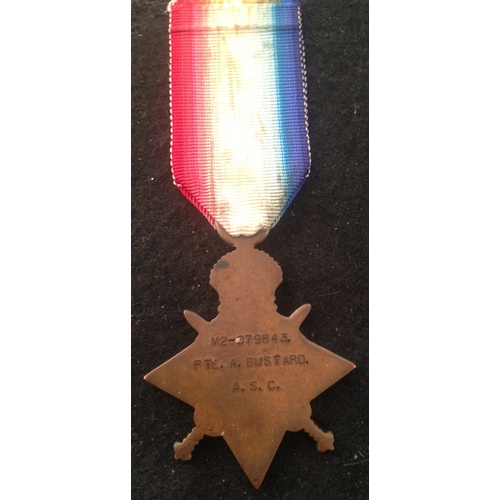 39 - <strong>1914-15 Star - Army Service Corps.</strong><br /><br />1914-15 Star, M2-379843 pte A. Bustar...