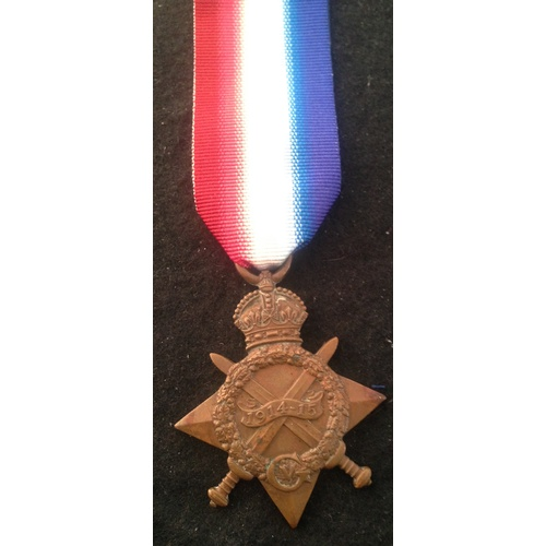40 - <strong>1914-15 Star - Notts & Derby Regiment.</strong><br /><br />1914-15 Star, 19110 Pte J. Ma...