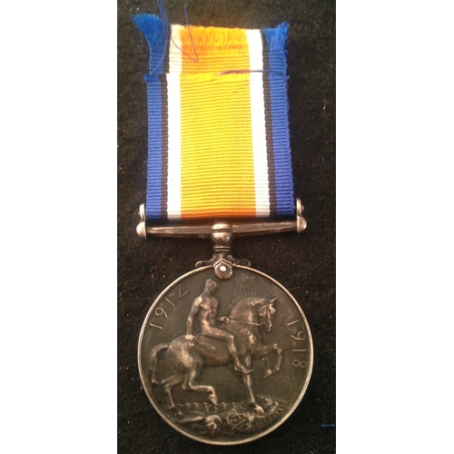 43 - <strong>British War medal - Lancashire Fusiliers.</strong><br /><br />39427 Pte H. Kennedy. Lanc Fus...
