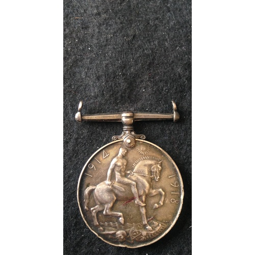 55 - <strong>British War medal - Army Cyclist Corps.</strong><br /><br />British War medal, 18434 Pte A.C...