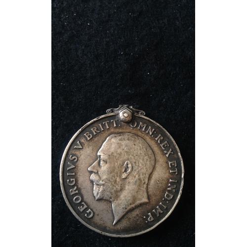 56 - <strong>British War medal - Notts & Derby Regiment.</strong><br /><br />British War medal, 3768 ...