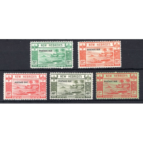 171 - <strong>New Hebrides</strong>, postage due sets, 1938, set of 5 (SG D6-D10 - Cat. £208), mounted min...