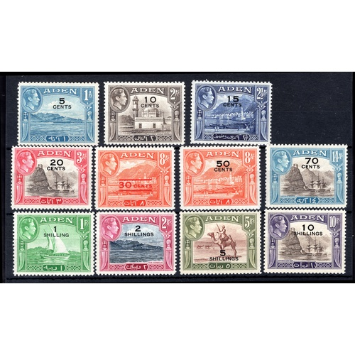 26 - <strong>Aden</strong>, 1951, set of 11 (SG 36-46 - Cat. 98), mounted mint....