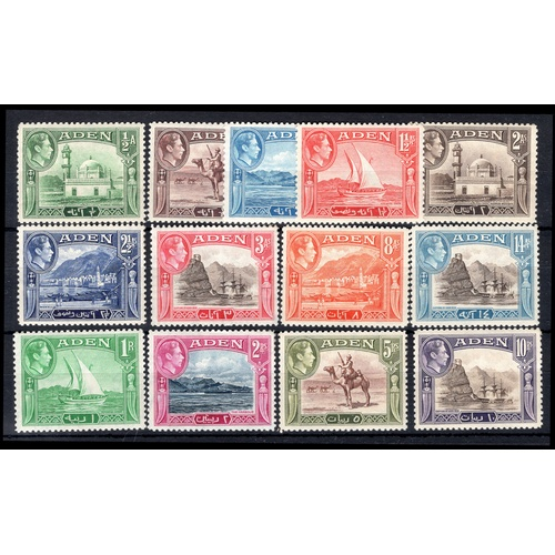 25 - <strong>Aden</strong>, 1939, set of 13 (SG 16-27 - Cat. £132), lightly mounted mint but some with cr...