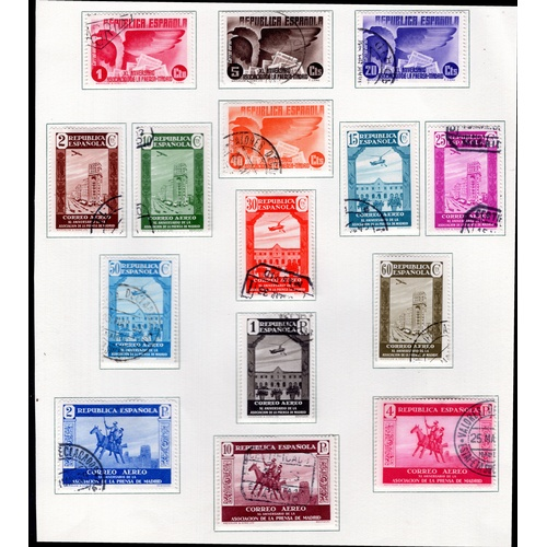 239 - <strong>Spain</strong>, 1931-36, selection, Pan- American Congress Air Stamps, 1931, set of 6 (SG 70...