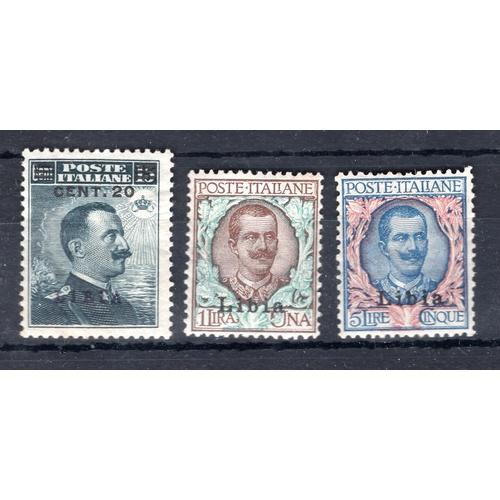 250 - <strong>Italian Libya</strong>, 1912-1916, 1 lira, 1912 (SG 14 - Cat. £120), 5 lire, 1912 (SG 15 - C...