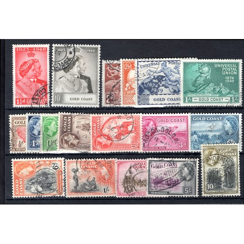 135 - <strong>Gold Coast</strong>, 1935-1952, colourful selection (SG 113-164 - Cat. £315), used....