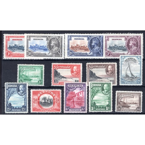 73 - <strong>Bermuda</strong>, 1935-1936, selection, Silver Jubilee, 1935, set of 4 9SG 94-97 - Cat. £26....