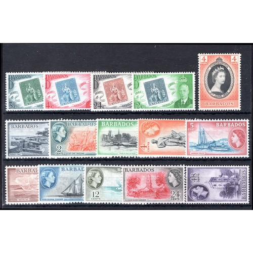 65 - <strong>Barbados</strong>, 1952-1967, colourful group, 1952, Centenary of Barbados stamps, set of 4 ...