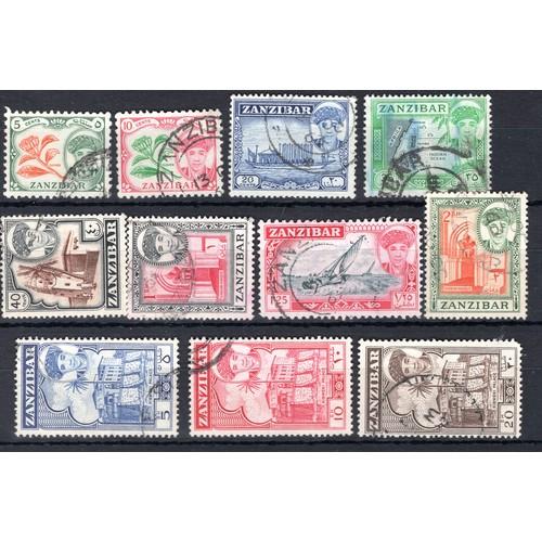 208 - <strong>Zanzibar</strong>, 1961, part set (SG 373, 374, 376, 379, 380, 382-85, 387 & 388 - Cat £...