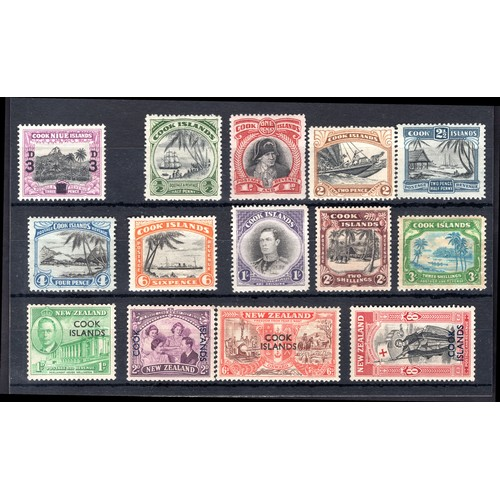 87 - <strong>Cook Islands</strong>, 1940-1946 George VI group, 1940, 3d surcharge (SG 130 - Cat. £0.75), ...