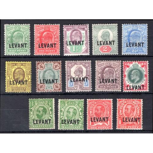 80 - <strong>British Levant</strong>, 1905-1911, Edward VII & George V selection, 1905, set of 10 9SG...