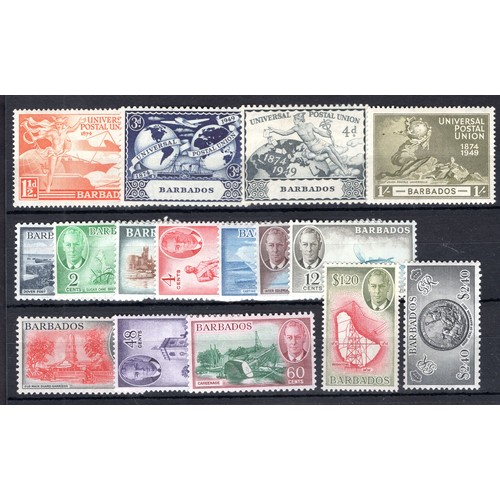 64 - <strong>Barbados</strong>, 1949-1952, George VI selection, 1949, 75th Anniversary of Universal Posta...