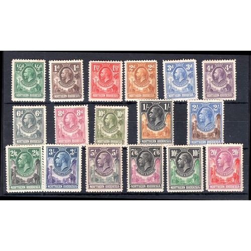 175 - <strong>Northern Rhodesia</strong>, George V, 1925, set to 20 shillings, (SG 1-17 - Cat. £784). Moun...