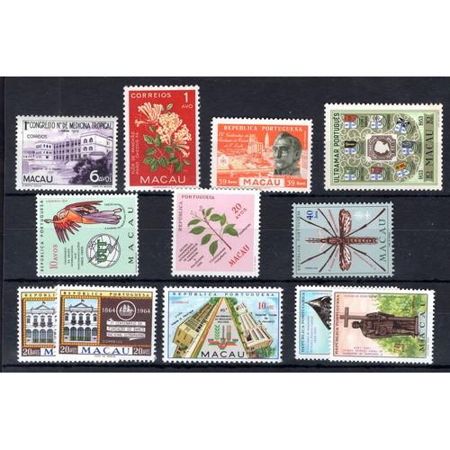259 - <strong>Macau</strong>, selection, 1952-1968, 1952, Tropical Medicine, (SG 451 - Cat. £20.00), 1953,...