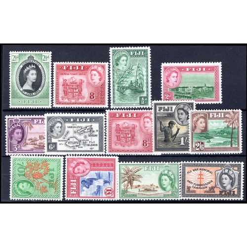 105 - <strong>Fiji</strong>, QEII selection, 1953-54, 1953, Coronation, 2½d (SG 278 - Cat. £2.00), 1953, R...