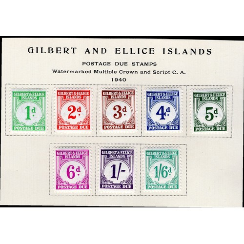 134 - <strong>Gilbert & Ellice Islands</strong>, Postage Due Stamps, 1940, set of 8 (SG D1-D8 - Cat. £...
