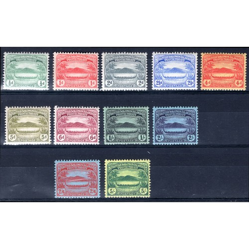 182 - <strong>Solomon Islands</strong>, 1908, set of 11 (SG 8-17 - Cat. £240.00), mounted mint....