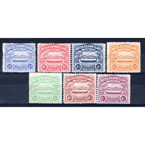 181 - <strong>Solomon Islands</strong>, 1907, set of 7 (SG 1-7 - Cat. £307.00), mounted mint....