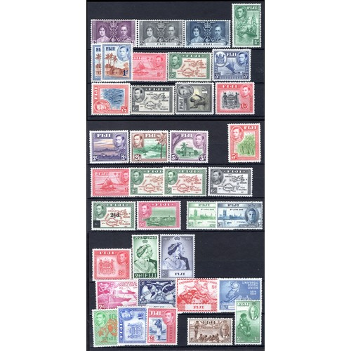 104 - <strong>Fiji,</strong> George VI selection, 37 values, 1937-1951, 1937, Coronation, (SG 246-248 - Ca...