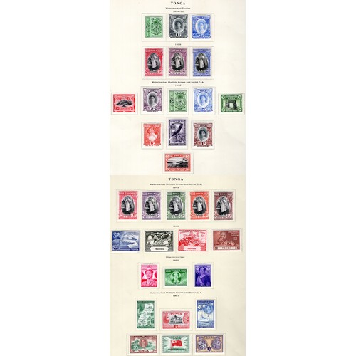 194 - <strong>Tonga</strong>, Queen Salote selection, 1934-1951, 1934-35, 3 values (SG 55, 56 & 59 - C...