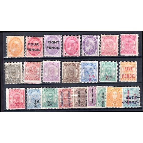 192 - <strong>Tonga</strong>, 1892-96, 23 values, 1892, 6d (SG 9 - Cat. £16.00), 1891, 4 values (SG 5-8 - ...