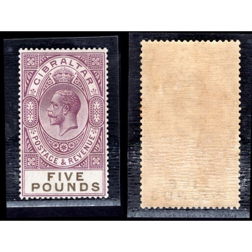 127 - <strong>Gibraltar</strong>, George V, £5, 1925, violet & black (SG 108 - Cat. £1600),<em> mint.<...