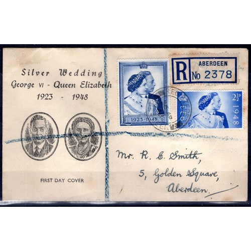 12 - <strong>Great Britain</strong>, George VI, 1948, Silver Wedding Anniversary First Day Cover, cover b...