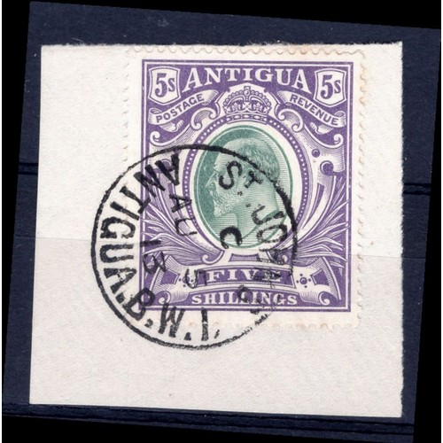 41 - <strong>Antigua</strong>, Edward VII, 1903, 5 shillings (SG 40 - Cat. £160). With F/V, used....