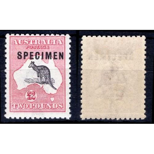 45 - <strong>Australia</strong>, 1915, £2 kangaroo, specimen (SG 45s - Cat. £850.00 for set of 3, 43s, 44...