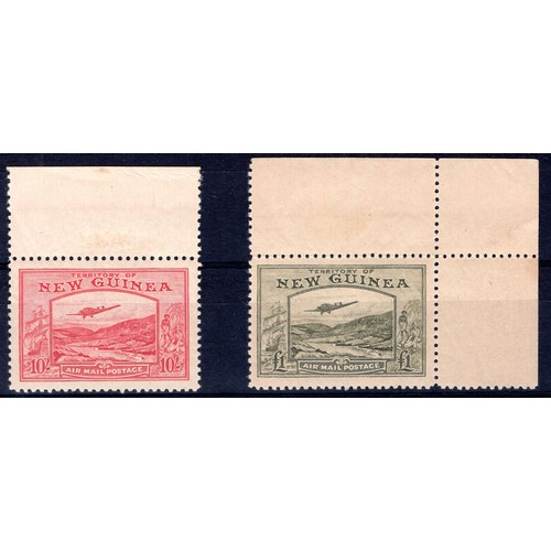 159 - <strong>New Guinea</strong>, 10 shillings & £1 marginal pair, (SG 224 & 225 - Cat. c£740.00)...