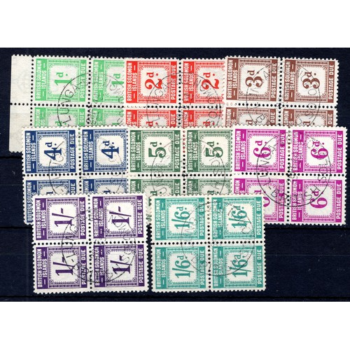 185 - <strong>Solomon Islands</strong>, 1940, postage Due, 8 values in blocks of 4 (SG D1-D8 - Cat. £520 a...