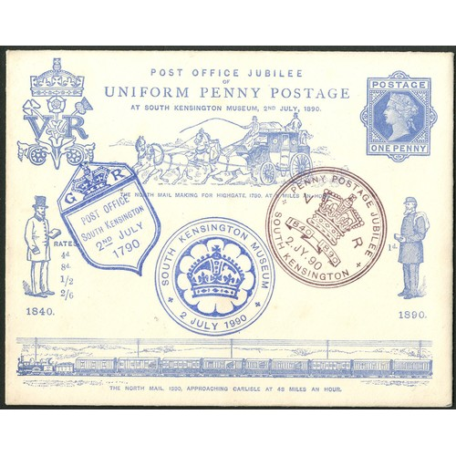 21 - <strong>Great Britain</strong>. 1890 2nd July, Jubilee of Uniform Penny Postage, postal stationery e...