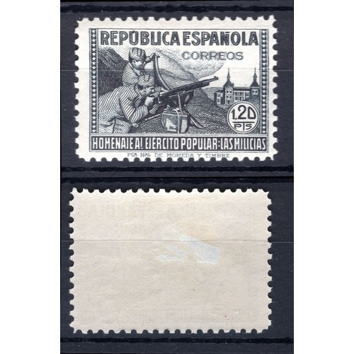 240 - <strong>Spain</strong>, 1938, 1.20 pesetas (SG 861g - Cat. £200.00), mounted mint....