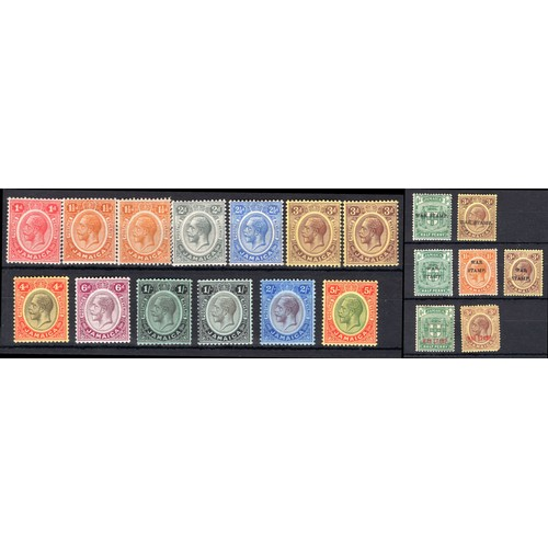 148 - <strong>Jamaica</strong>, 1912-1916, selection, set of 13 1912 (SG 58-67 - Cat. £118), mounted mint,...