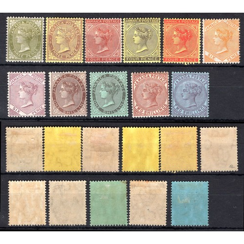 147 - <strong>Jamaica</strong>, 1905-09, part set (SG 46, 46a, 48, 49, 50, 51, 52, 53, 54, 55 & 56 - C...