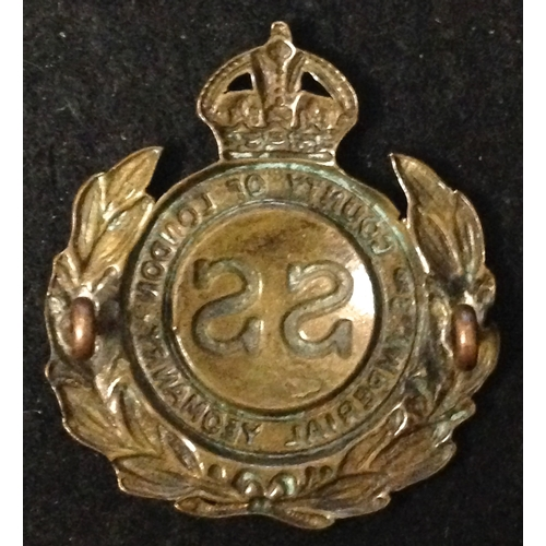 7 - <strong>3rd County of London Imperial Yeomanry.</strong><br /><br />Kings Crown, Nice heavy brass co...
