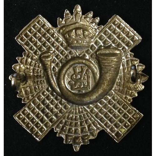 8 - <strong>Lanarkshire Rifle Volunteers, Imperial crown.</strong><br /><br />White metal, possibly silv...