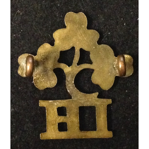 11 - <strong>29th Battalion Irish Horse Imperial Yeomanry.</strong><br /><br />Small brass lugs to rear....