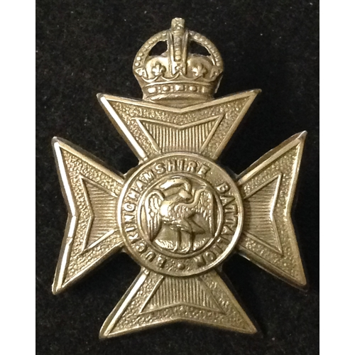 15 - <strong>Buckinghamshire Battalion.</strong><br /><br />Kings Crown, White metal, however may have be...
