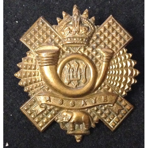 18 - <strong>Highland Light Infantry, Kings Crown, All Brass.</strong><br /><br />All Brass with Long Ass...