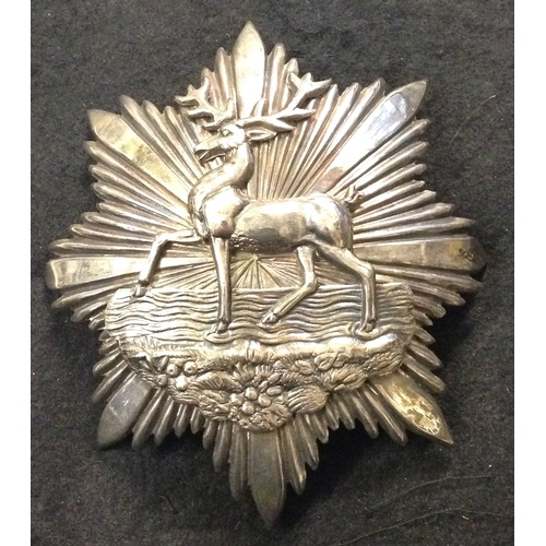 34 - <strong>Hertfordshire Rifle Volunteers, Helmet Plate.</strong><br /><br />2nd Administrative Battali...