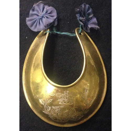 42 - <strong>British Officer's Gorget 1796 Model Brass Gilt Gorget.</strong><br /><br />British officer's...